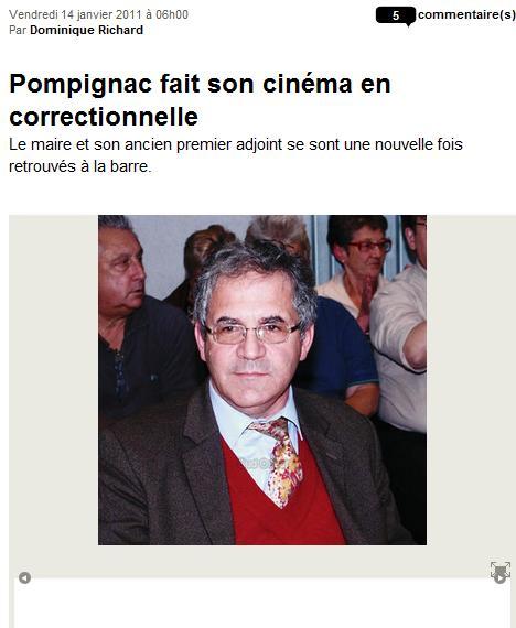 Pompignac fait son cinéma en correctionnelle cinema1