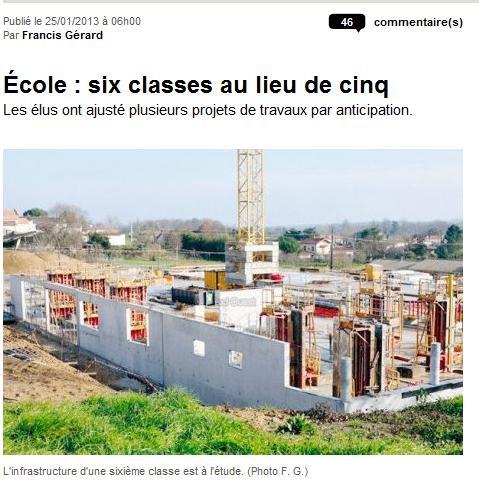 Ecole : six classes au lieu de cinq ecole1