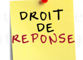 DROIT DE REPONSE DE FRANCIS MASSE